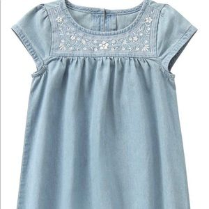 Crazy 8 denim embroidery dress for girls size 8